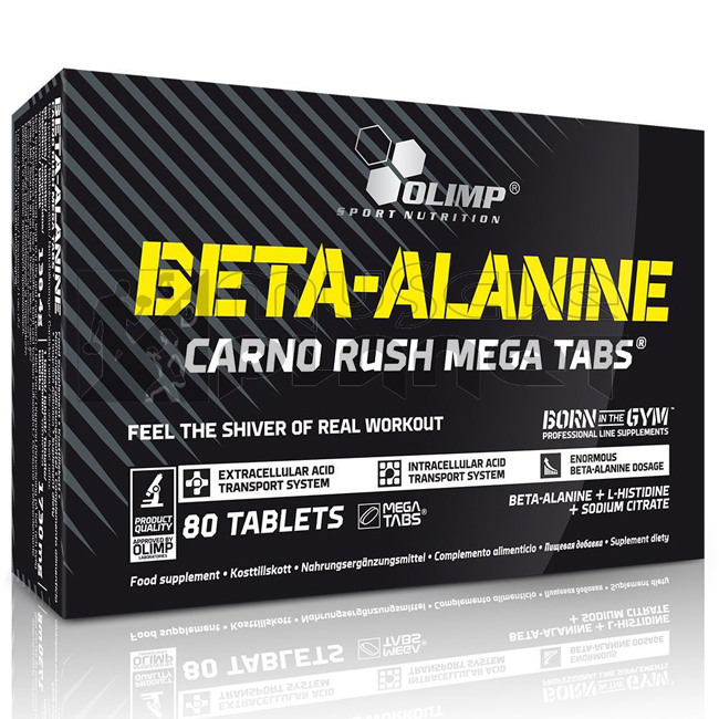 Beta-Alanine Carno Rush Mega Tabs® (80 tabletta)
